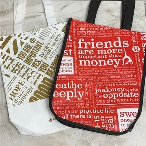 LULULEMON — LIMITED EDITION Tote Bags — SET OF TWO